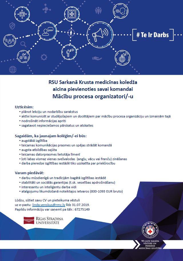 Vakance_Mācību procesa organizators
