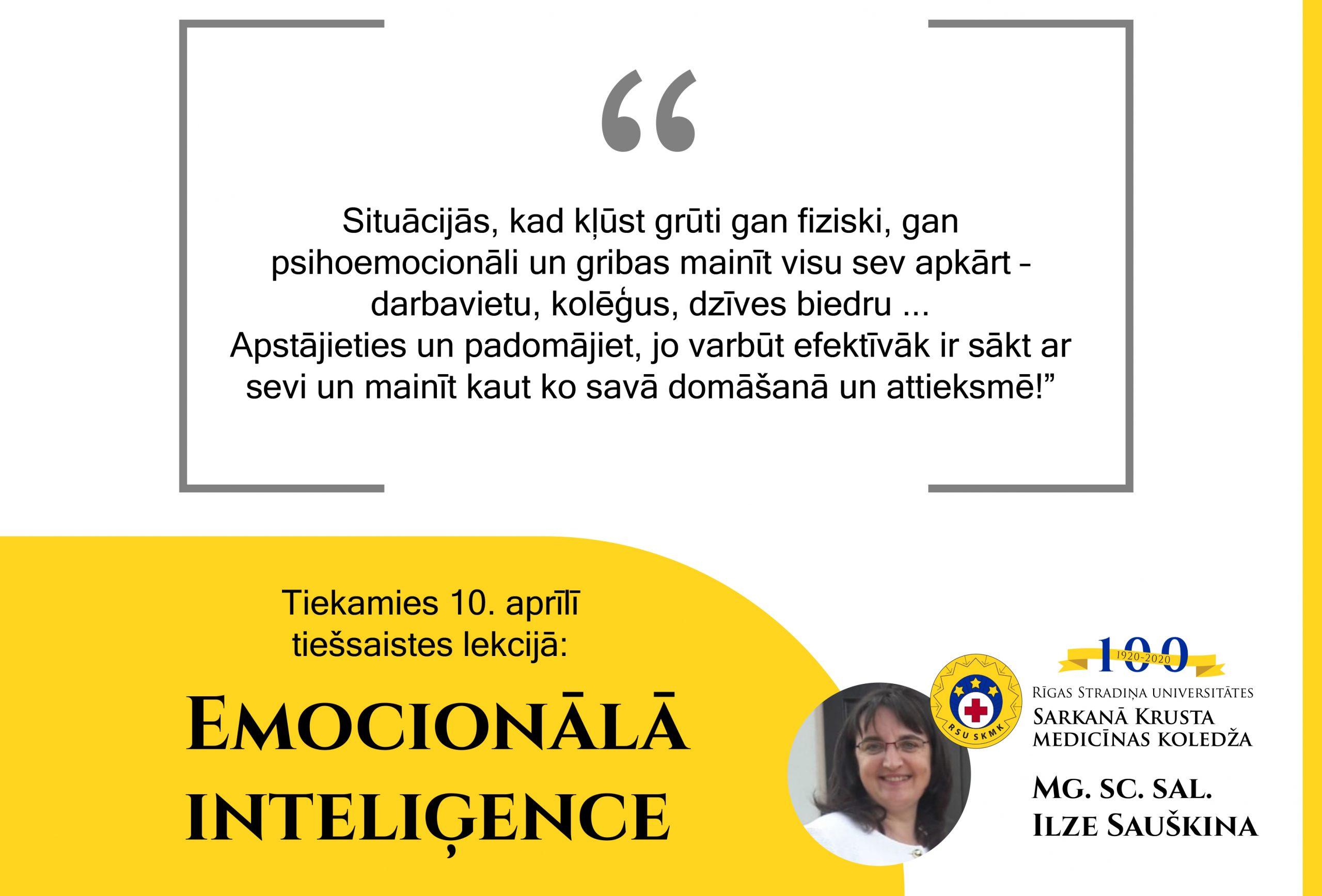 Tiešsaistes lekcija: Emocionālā inteliģence