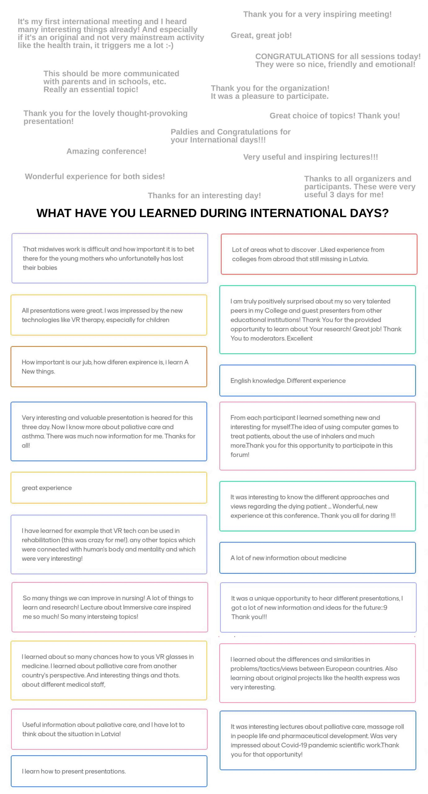 International Days Review and Participant Feedback